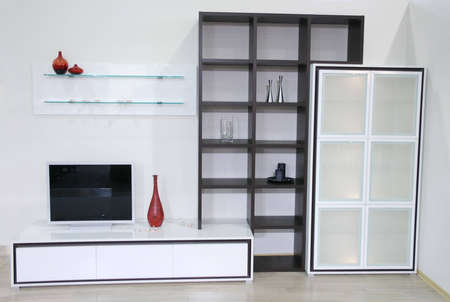 white interior with tv Stock Photo - 906676
