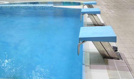 hydrophobia: inizio luogo in piscina  Archivio Fotografico