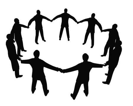 busines: busines people circle