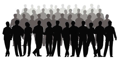 business crowd vector photo