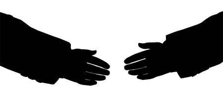 business hands silhouette Stock Photo - 2173775