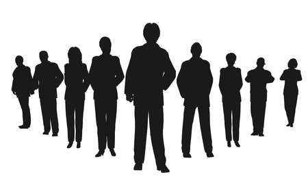 business people with leader Stock Photo - 2173974
