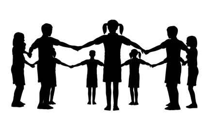 socialism: children circle Stock Photo