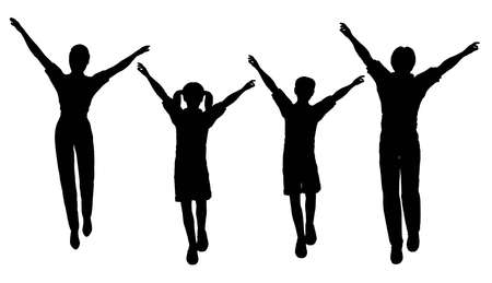 jump family of four Stock Photo - 2173954