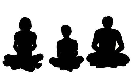 yoga vector photo