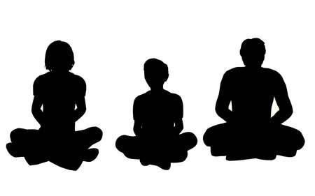 sitting ground:  yoga vector Stock Photo