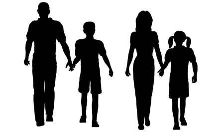 walking family photo