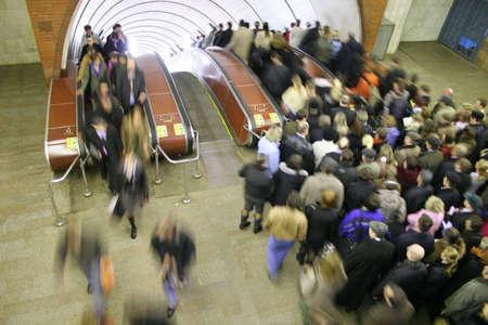 subway crowd photo