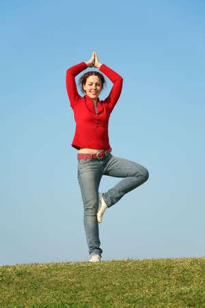 yoga woman Stock Photo - 2192028