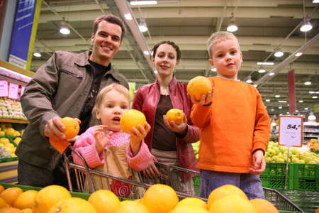 citrus family: family with oranges Stock Photo