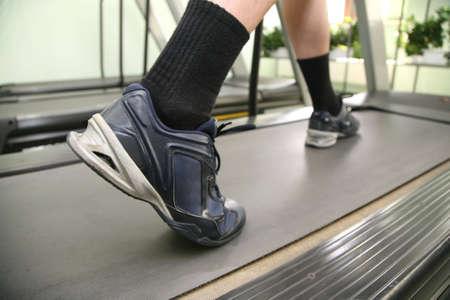 male legs in health club photo