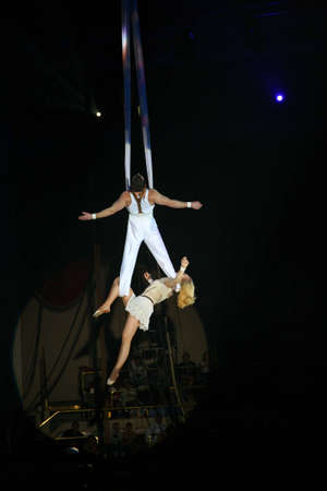 show ring: circus artists