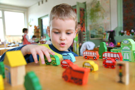 baby nursery: child in kindergarten Stock Photo