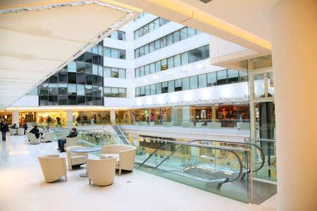 bright center: terrace in shop Stock Photo