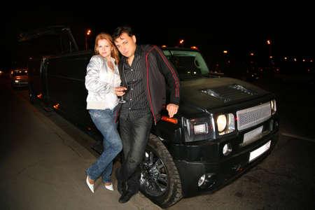 couple and big car Stock Photo - 5221538