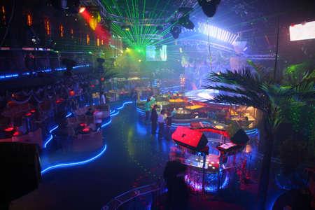night club interior Stock Photo