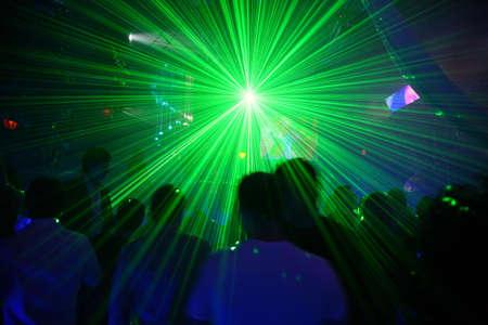 laser discotheek Stockfoto