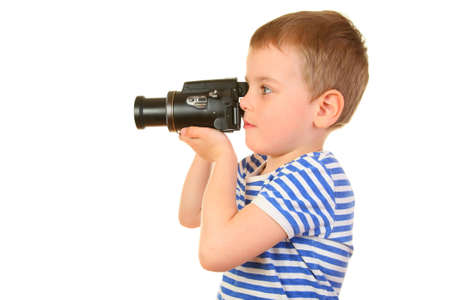 boy with camera profile Stock Photo - 2191892