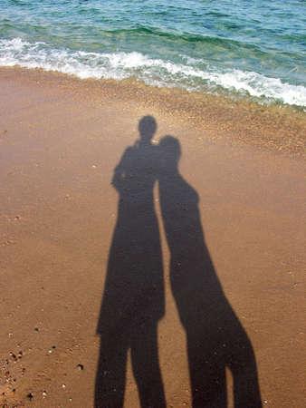 gölge: two shadow beach wave