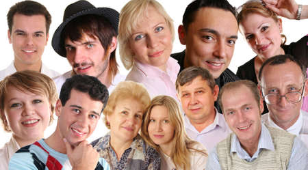 many faces Stock Photo - 2290240