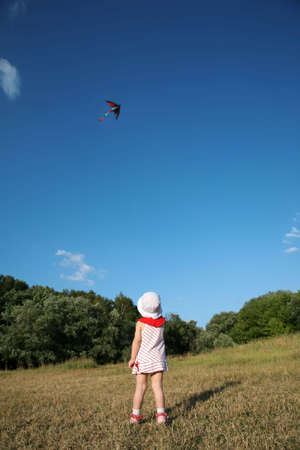 girl with kite Stock Photo - 2274864