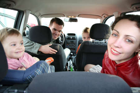 back seat: family in car 2