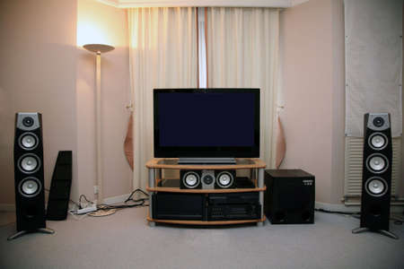 audio speaker: home audio and video equipment Stock Photo