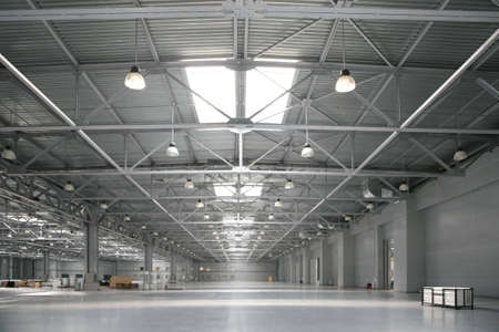 warehouse equipment: The big warehouse of shopping center