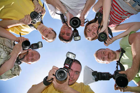 teaming: Six friends with cameras