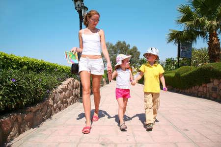 woman child walking photo