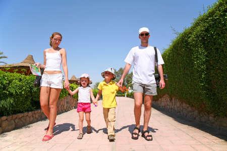 family on resort photo