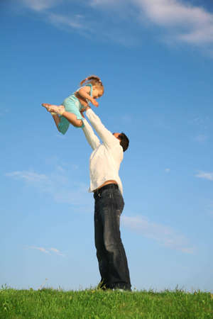 father child hands Stock Photo - 2307510