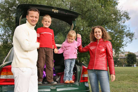 family and car Stock Photo - 2308589