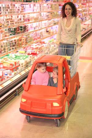 woman store cart