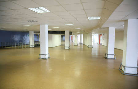 choose a path: long corridor Stock Photo