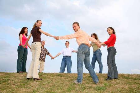 friends roundelay circle, russian khorovod photo