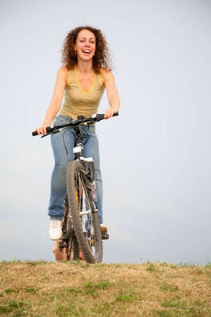 woman on the bicycle photo