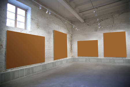 gallerie: frames on the brick wall