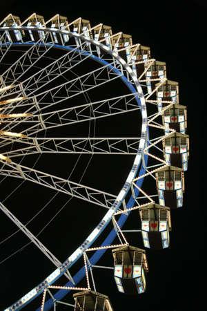 ferry wheel at night 3 photo