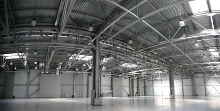 hangar warehouse panorama Stock Photo - 2297491