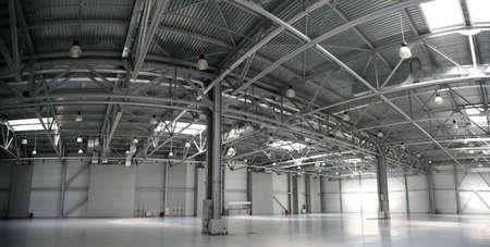factory floor: hangar warehouse panorama
