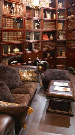 library interior photo