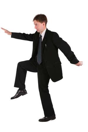 slink: dynamic businessmen Stock Photo