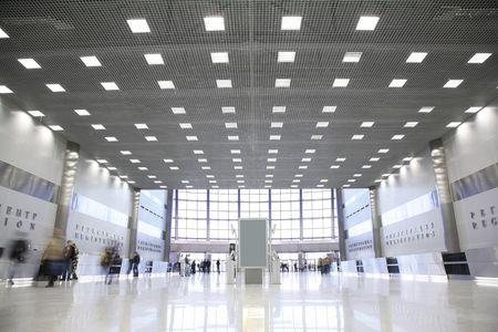 beursvloer: hal in het business center  Stockfoto