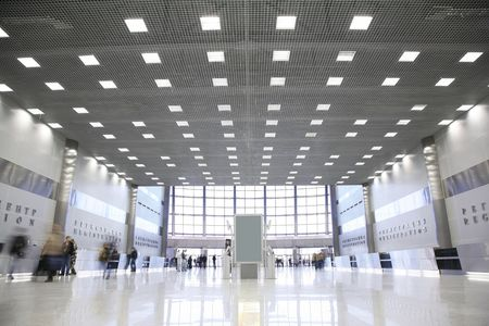 hall in the business center