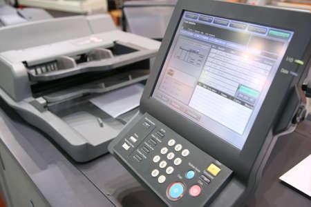 screen of printed equipment photo