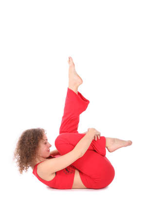 woman doing yoga exercise Stock Photo - 2317952