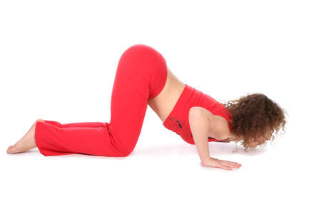 woman doing yoga exercise 2 Stock Photo - 2317948