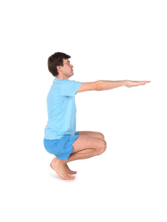 curtsy: yoga man sitting