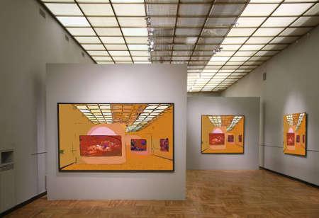 filtered: gallery7 arte. Todas las im�genes en la pared s�lo filtra toda esta foto Foto de archivo